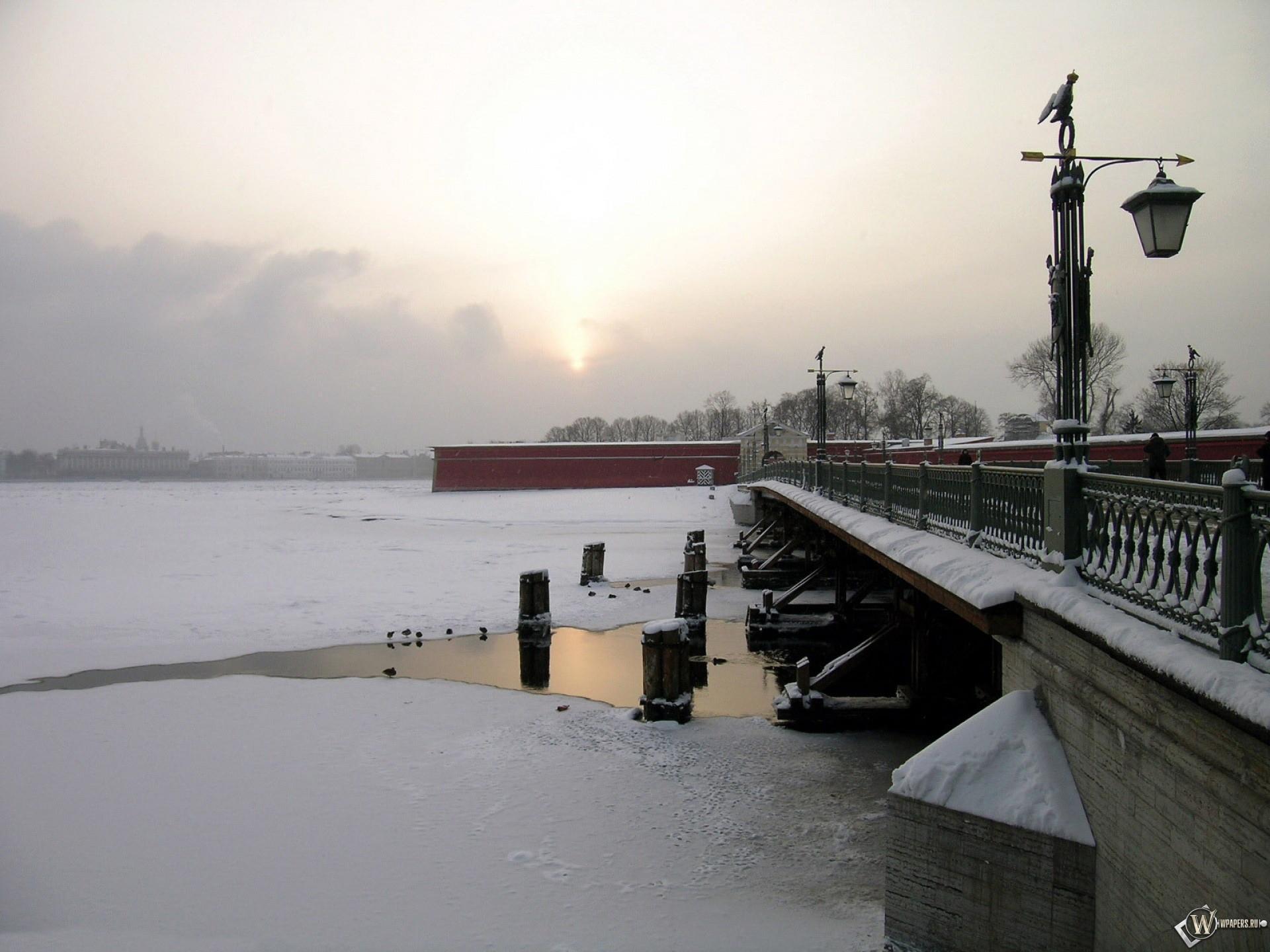Нева зимой Санкт-Петербург 1920x1440