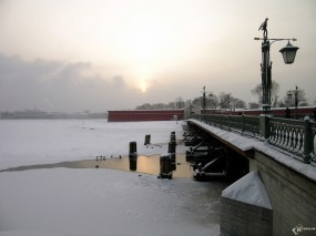 Нева зимой Санкт-Петербург
