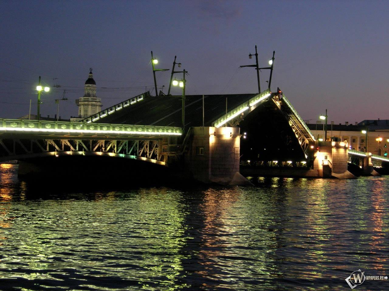 Разводной мост Санкт-Петербург 1280x960