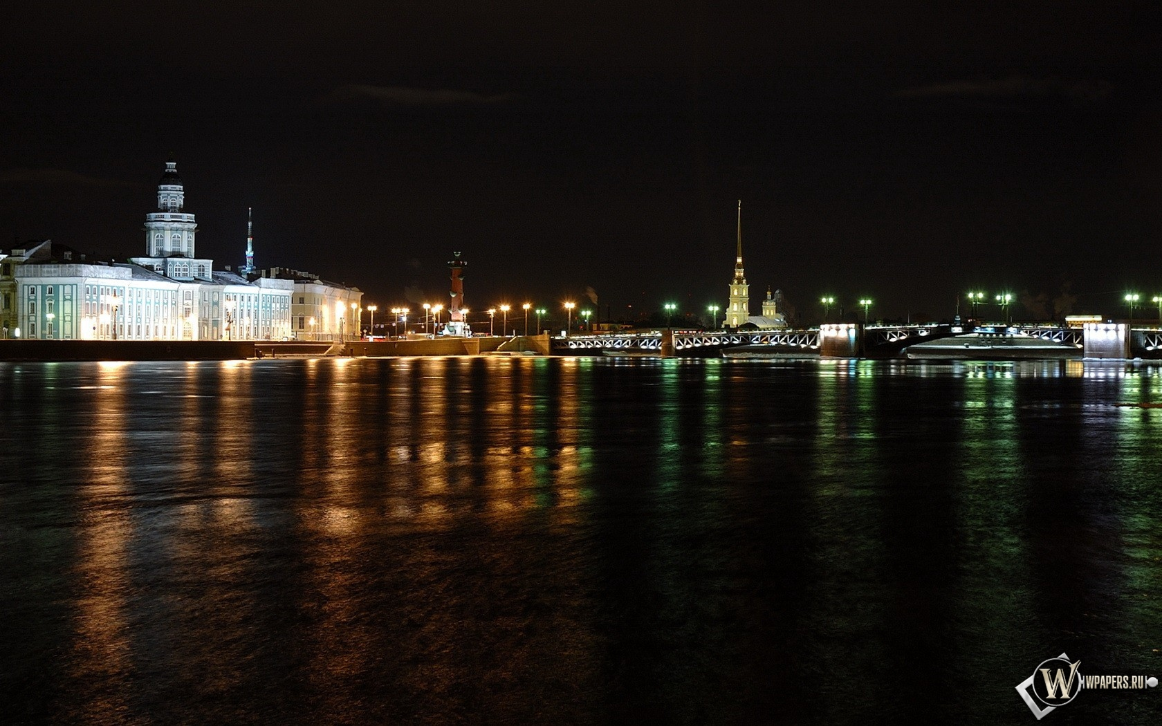 Ночной Питер 1680x1050