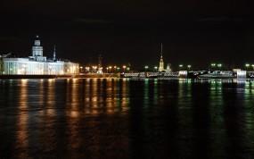 Обои Ночной Питер: Мост, Ночь, Санкт-Петербург, Питер, Санкт-Петербург