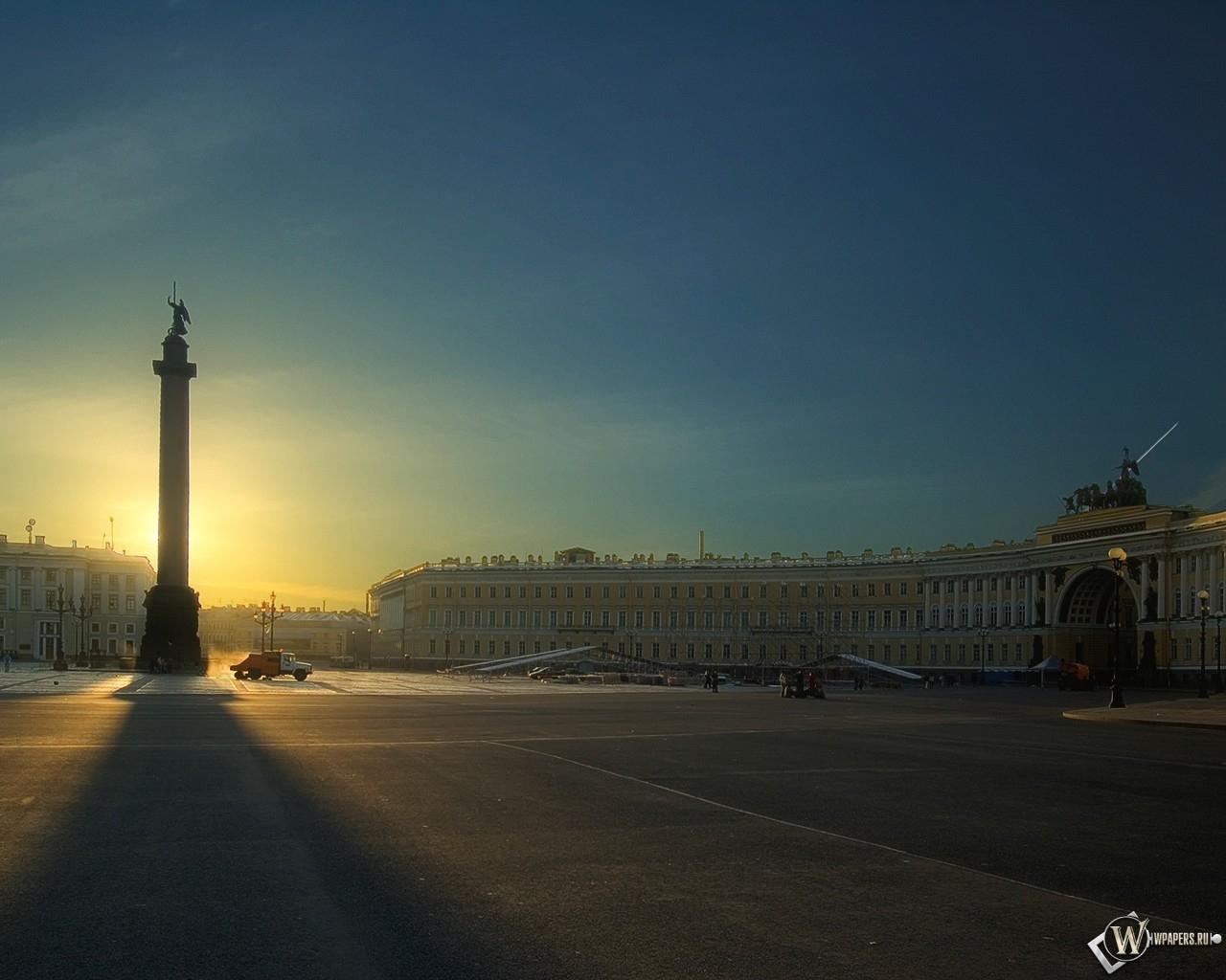 Санкт-петербург дворцовая площадь 1280x1024