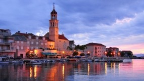 Обои Sutivan Harbor Dalmatia Croatia: Город, Лодки, Здания, Города и вода