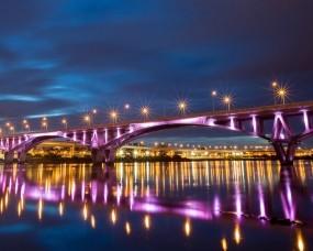 Обои Тайвань Тайбэй: Город, Мост, Ночь, тайвань, Города и вода