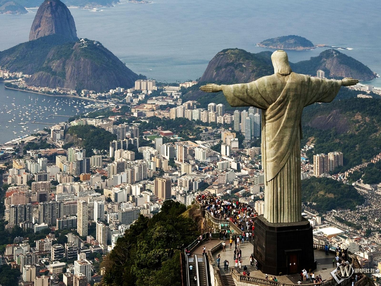 Статуя Христа в Бразилии 1600x1200