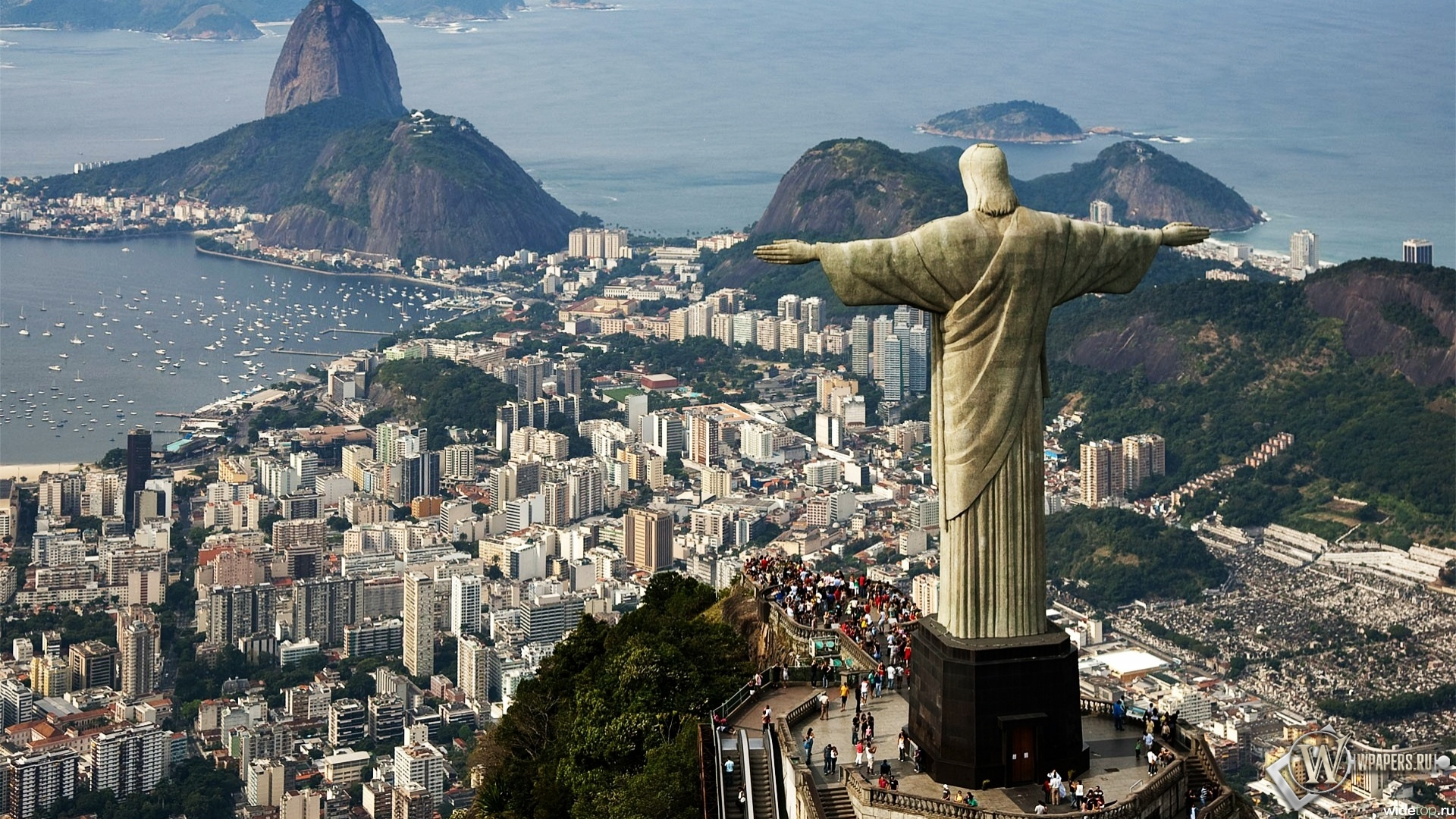 Статуя Христа в Бразилии 1920x1080