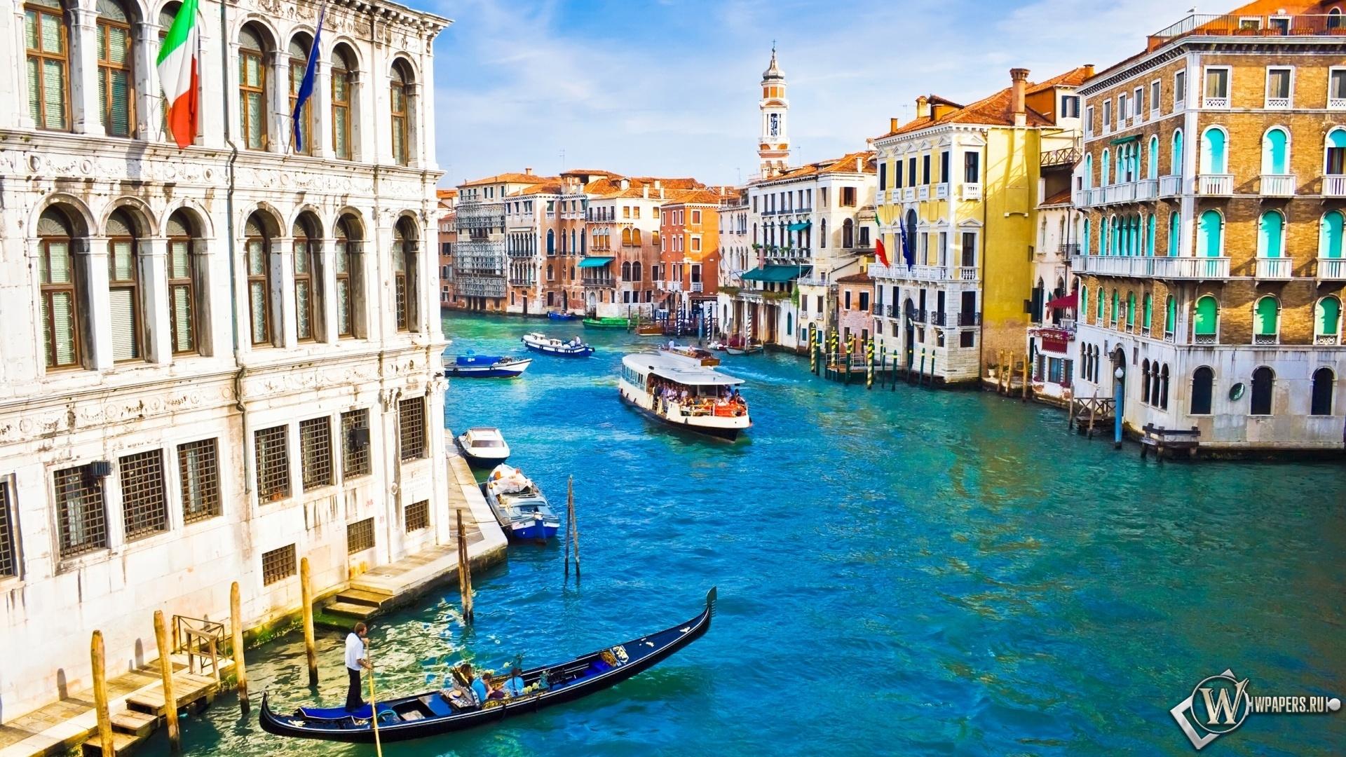 Красивый канал в Венеции 1920x1080