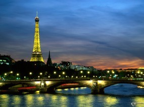 Обои The River Seine in France Paris: Река, Франция, Париж, Города и вода