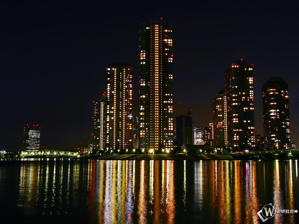 Обои ночные огни, ночной город, Пейзаж. Города foto 12