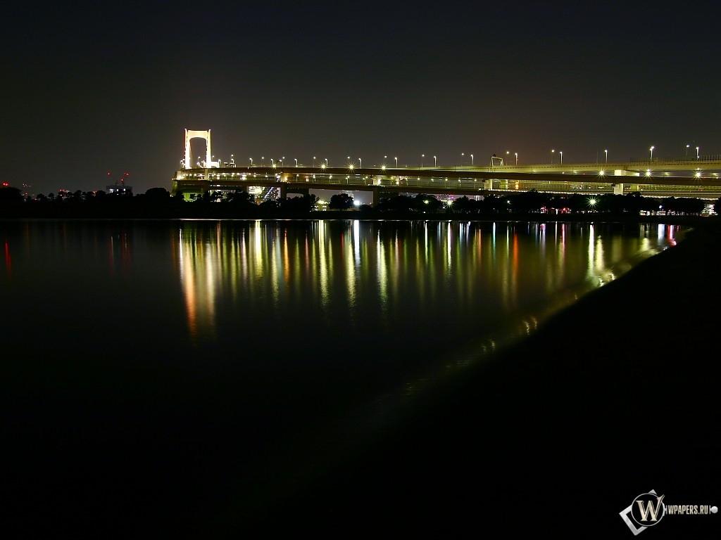 Мост в ночи 1024x768