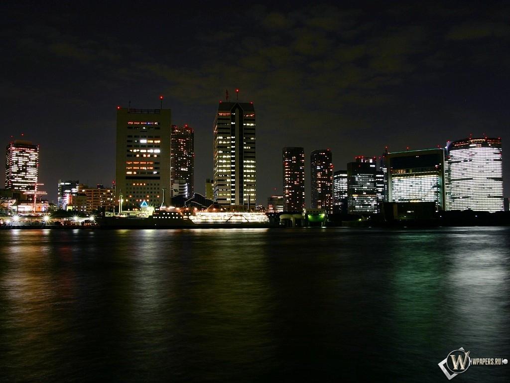 Огни ночного города 1024x768