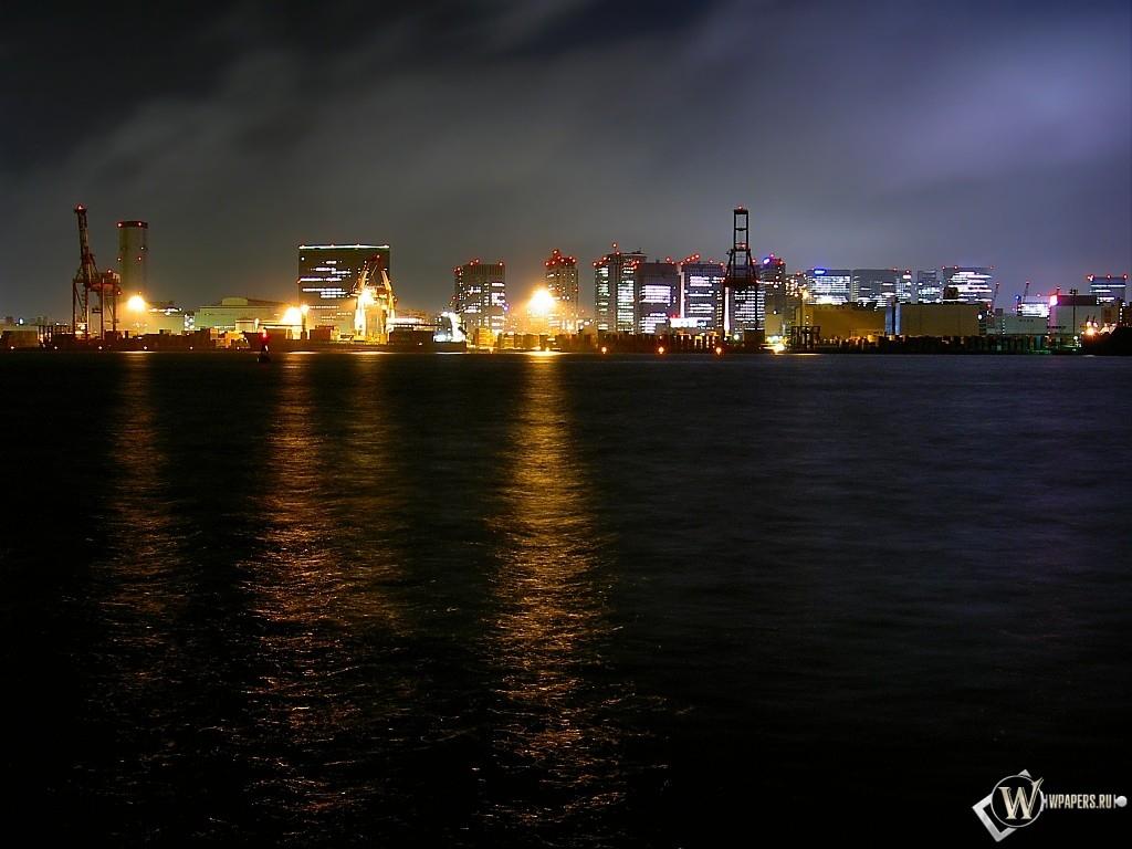 Город ночью 1024x768