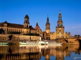 Обои Дрезден: Германия, Дрезден, Города и вода