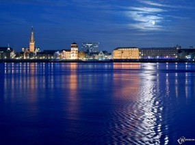 Обои Дюссельдорф - Германия: Германия, Города и вода