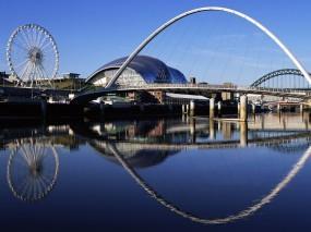 Обои Gateshead Millennium: Мост, Города и вода