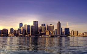 Обои Сиэтл: Город, Небоскрёбы, Небо, Сиэтл, Америка, Небоскрёб, USA, Города и вода