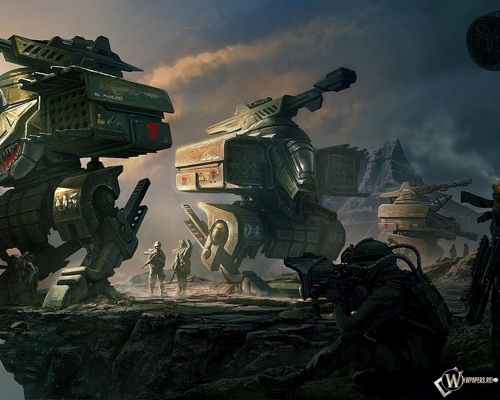 Отряд роботов 1600x1280