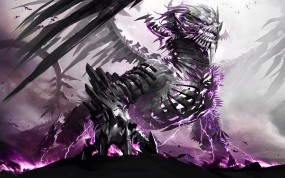 Обои Зловещий Дракон: Дракон, Монстр, Ужас, Фэнтези