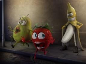 Обои Банан-маньяк: Фрукты, Банан, Извращенец, Маньяк, Фэнтези