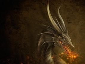 Обои Дракон: Пламя, Дракон, Фэнтези
