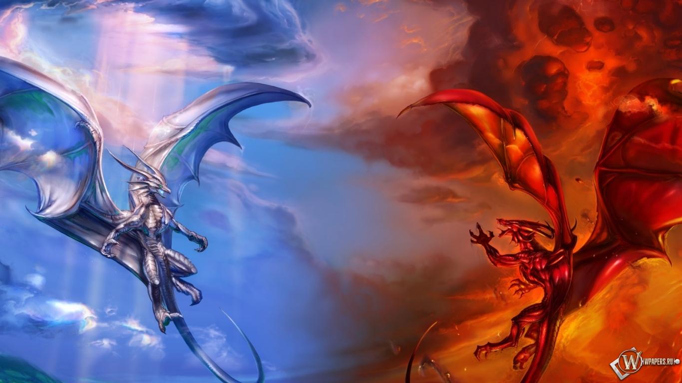 Обои 1440х900 на рабочий стол драконы