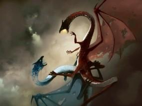 Обои Битва драконов: Битва, Драконы, Сражение, Фэнтези