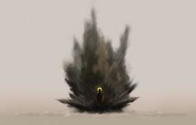 Обои второе пришествие: Рисунок, Человек, Взрыв, Избранный, Фэнтези