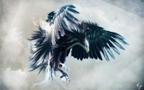 Обои Орёл: Полёт, Птица, Орёл, Фэнтези