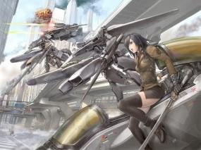 Обои Catch The Sky: Война, Меха, Фентези, Фэнтези