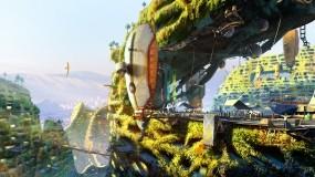 Обои Эко-Архитектура будущего: Фантастика, Трава, Корабль, Будущее, Фэнтези