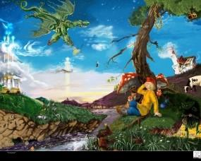 Обои Сказочные грибы: Фэнтези, Гриб, Фэнтези