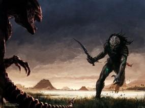 Обои Aliens vs. Predator: Хищник, Чужой, Aliens vs. Predator, Фэнтези