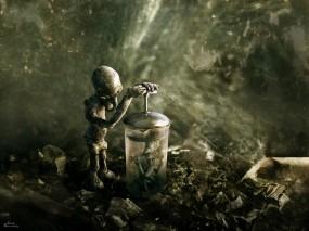 Обои Инопланетянин с заварником: Камни, инопланетянин, заварник, Фэнтези