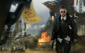 Обои Арт Marek Okon: Взрыв, Пистолет, Техника, Спецагент, Фэнтези