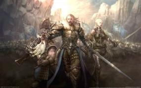 Обои Стражи порядка: Человек, Гном, Оружие, Эльф, воины, легион, Фэнтези