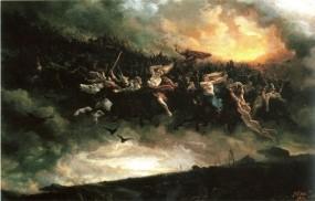 Обои Картина Петер Николай Арбо: Картина, Небо, Фэнтези