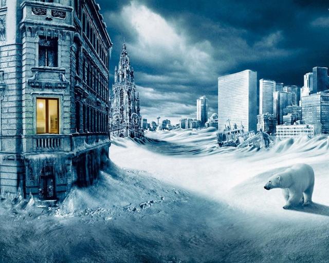 Заснеженный город