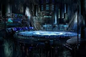 Обои Batcave: Batman, Пещера, Платформа, убежище, Фэнтези