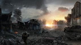 Обои Город во время войны: Война, Город, Развалины, Фэнтези