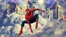 Обои Человек-паук: Прыжок, Герой, Человек-Паук, Фэнтези