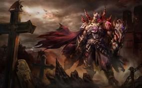 Обои Dark fantasy warrior: Фэнтези, Воин, Демон, Фэнтези