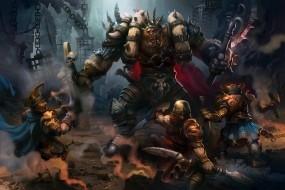 Обои Битва орков: Оружие, Монстр, Люди, Бой, Фэнтези