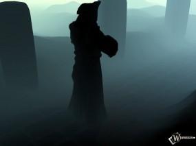 Обои 3D Монах: Туман, Монах, Фэнтези