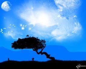 Обои Фантастическое дерево: Любовники, Молодожены, Романтики, Фэнтези