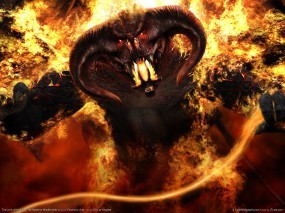 Обои Балрог: Огонь, Фэнтези, Властелин колец, Балрог, Фэнтези