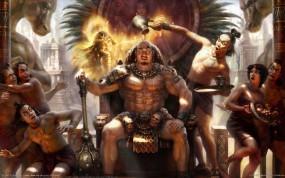 Обои Alon Chou: Богиня, Майя, Царь, Alon Chou, Фэнтези