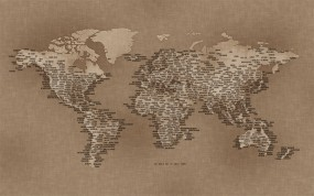 Карта на холсте