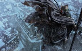 Обои Смерть над городом: Зима, Город, Холод, Смерть, Голод, Фэнтези