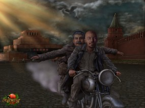 Обои Побег из Мавзолея: АриSt@Rх, Ленин, Сталин, Мавзолей, Фэнтези