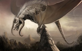 Дракон на скале